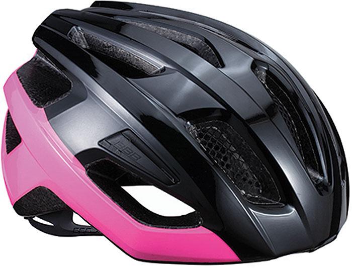 Велошлем BBB 2018 Kite, цвет: черный блестящий, розовый. Размер S