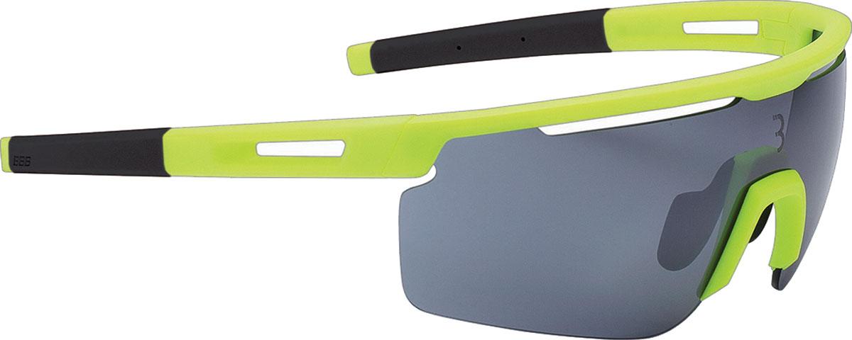 Очки солнцезащитные велосипедные BBB 2018 Avenger PC Smoke Flash Mirror Lenses, цвет: желтый, серый очки солнцезащитные велосипедные bbb 2018 summit pc smoke mlc red lens цвет красный черный