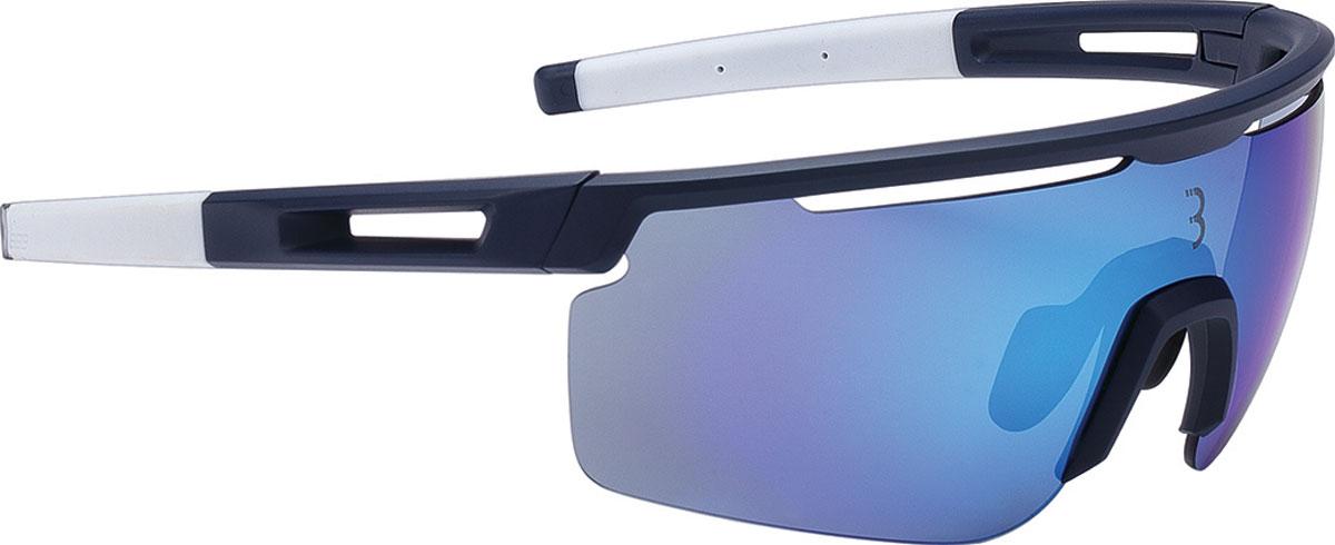 Очки солнцезащитные велосипедные BBB 2018 Avenger PC dark blue Lenses, цвет: синий, белый