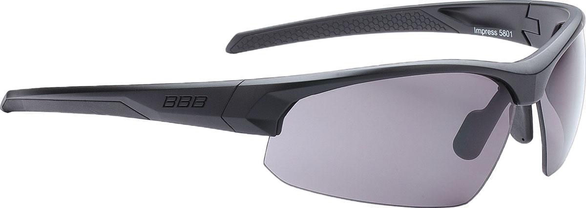 Очки солнцезащитные велосипедные BBB 2018 Impress PC Smoke Lenses, цвет: черный матовый