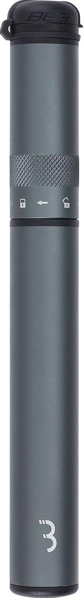 Насос ручной BBB Samurai Telescopic, цвет: серый, 210 мм