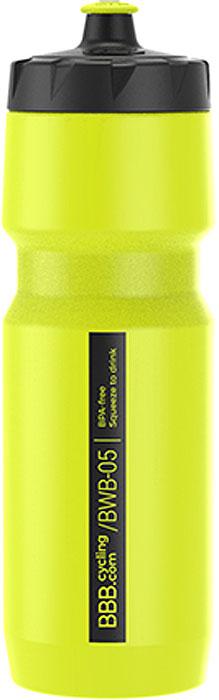 Фляга велосипедная BBB CompTank, цвет: желтый, 750 мл