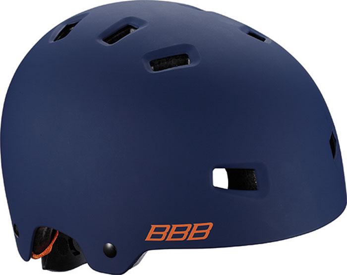 Велошлем BBB 2018 Billy, цвет: синий матовый, оранжевый. Размер MBHE-50Легкий детский велошлем Технические характеристики: - Легкие ремешки с регулировкой для идеально комфортной посадки. - Простая в использовании система настройки TwistClose, можно настроить шлем одной рукой. - Съемные мягкие накладки с антибактериальными свойствами и возможностью стирки. - верх Shell Construction ABS - 12 вентиляционных отверстий