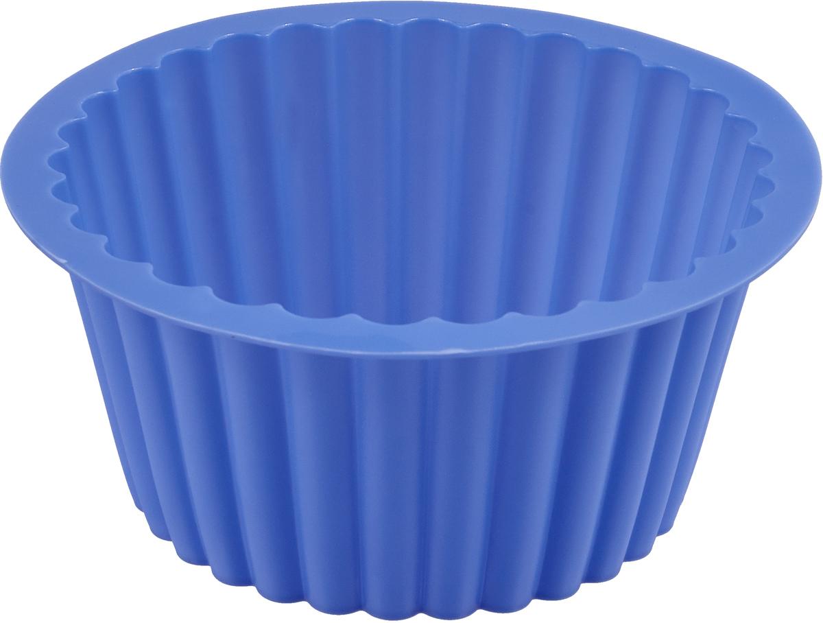 Форма для выпечки Доляна Рифленый круг, цвет: синий, 18 х 10 см651947_синийФорма для выпечки из силикона - современное решение для практичных и радушных хозяек.Оригинальный предмет позволяет готовить в духовке любимые блюда, а также вкуснейшуювыпечку.Особенности:- блюдо сохраняет нужную форму и легко отделяется от стенок после приготовления;- высокая термостойкость (от -40°С до +230°С) позволяет применять форму в духовых шкафах иморозильных камерах; - небольшая масса делает эксплуатацию предмета простой даже для хрупкой женщины; - силикон пригоден для посудомоечных машин; - высокопрочный материал делает форму долговечным инструментом; - при хранении предмет занимает мало места. Перед первым применением промойте предмет теплой водой. В процессе приготовленияиспользуйте кухонный инструмент из дерева, пластика или силикона. Перед извлечением блюдаиз силиконовой формы дайте ему немного остыть, осторожно отогните края предмета.Каквыбрать форму для выпечки - статья на OZON Гид.