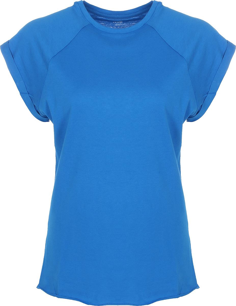 Футболка женская oodji Ultra, цвет: голубой. 14707001-4B/46154/7501N. Размер XXS (40) футболка женская oodji ultra цвет синий кремовый 14707001 17 46154 7530f размер xxs 40