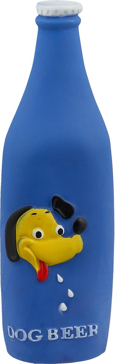 Игрушка для собак Уют Бутылка, 19,5 x 5,2 см, цвет: синийИШ51_синий