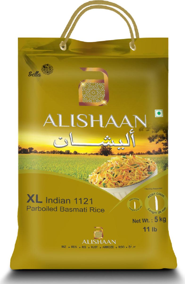 Alishaan пропаренный золотой басмати длиннозерный индийский рис, 5 кг rosenfellner muhle органический рис басмати 500 г
