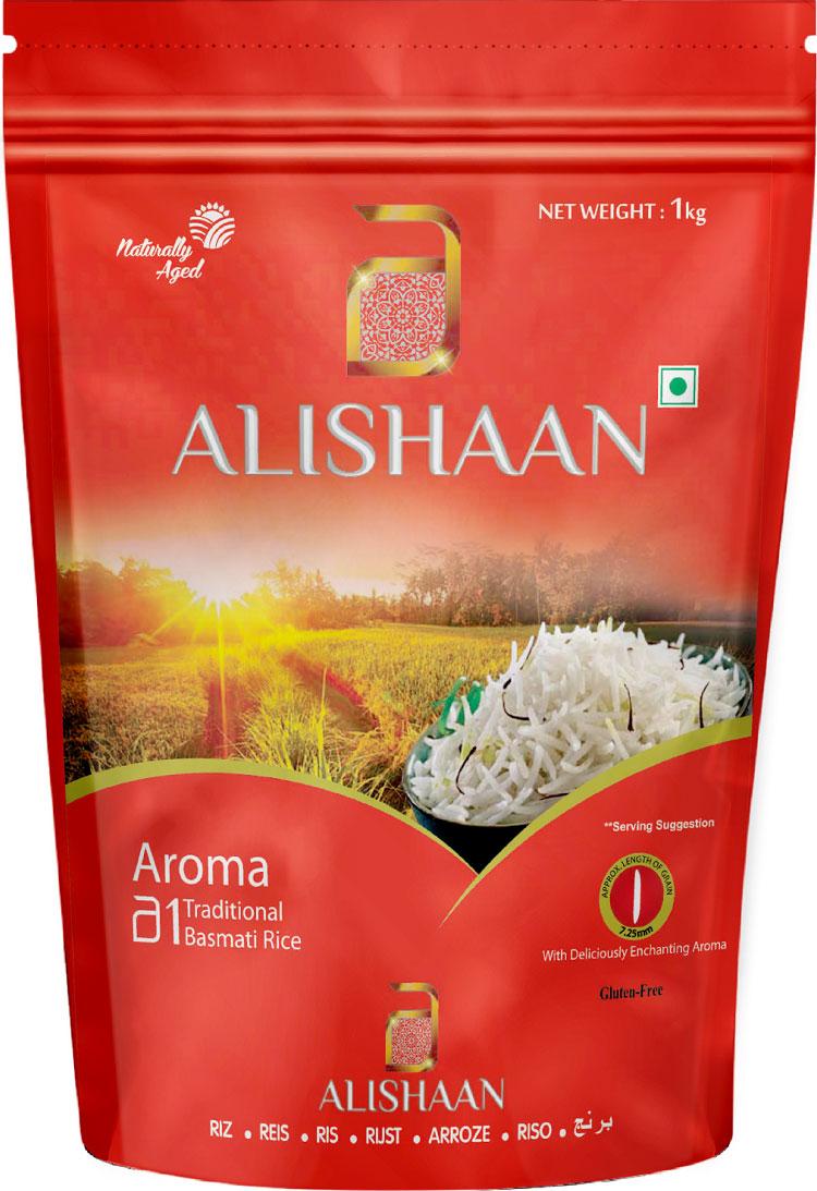 Alishaan Aroma непропаренный басмати длиннозерный индийский рис, 1 кг rosenfellner muhle органический рис басмати 500 г