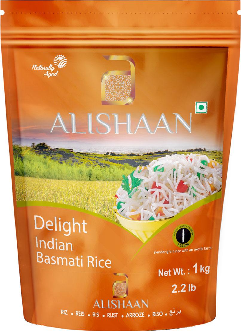Alishaan Deligent пропаренный басмати длиннозерный индийский рис, 1 кг rosenfellner muhle органический рис басмати 500 г