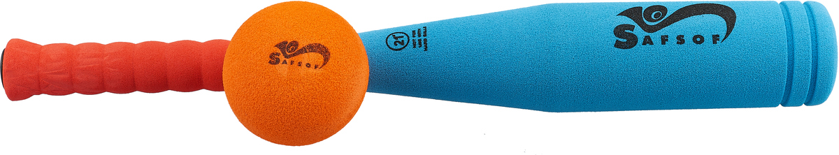 Zakazat.ru Safsof Игровой набор Бейсбольная бита и мяч цвет голубой коралловый оранжевый