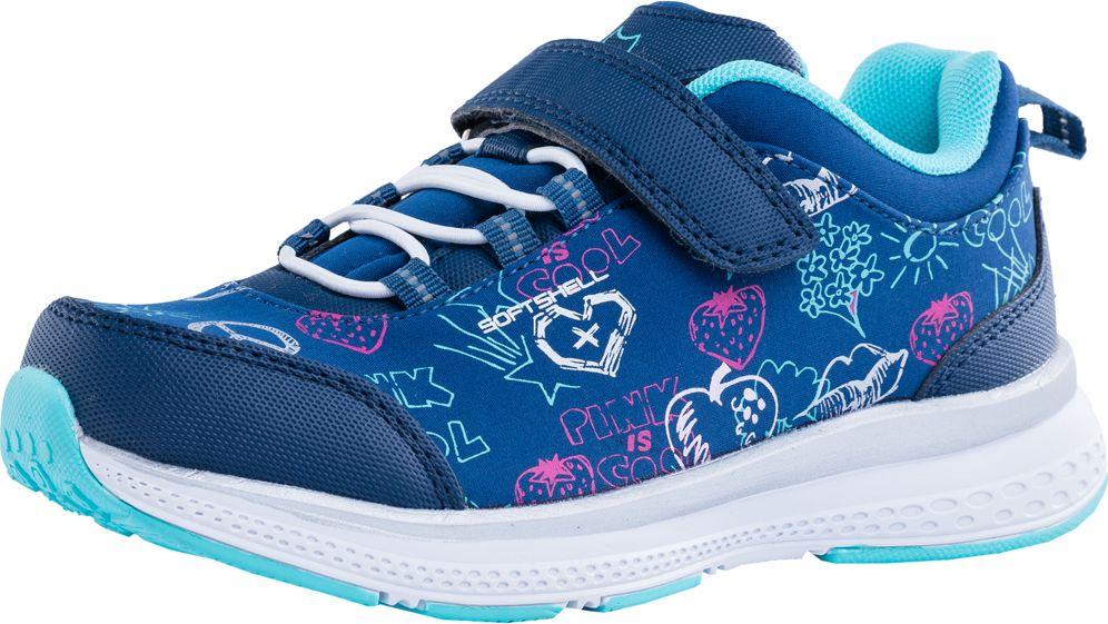 Кроссовки для девочки Котофей, цвет: синий. 644193-71. Размер 35644193-71Яркие кроссовки «Котофей» – лучшее решение для подвижных детей. Модель изготовлена из материала «SoftShell». Основная концепция обуви с верхним слоем из материала SoftShell защитить от непредсказуемых погодных условий, при этом сохраняя комфортный микроклимат внутри. Внешний слой отталкивает влагу, обладает эластичностью и повышенной прочностью. Внутренний слой — сохраняет тепло и позволяет ноге «дышать». Наиболее прогрессивная разработка в мировом производстве обуви. Кроссовки из материала «SoftShell» универсальны. Они подходят для комфортного использования, как в спортзале, так и на улице.Носочная часть защищена накладкой, которая позволяет увеличить долговечность и надолго сохранит приятный внешний вид обуви. Материал подошвы - эва, очень лёгкий и пружинистый материал. Модель фиксируется на ноге при помощи велькро и резинки. Подкладка из текстиля обеспечат ногам удобство и уют. Формованная стелька обладает гигроскопичными свойствами.
