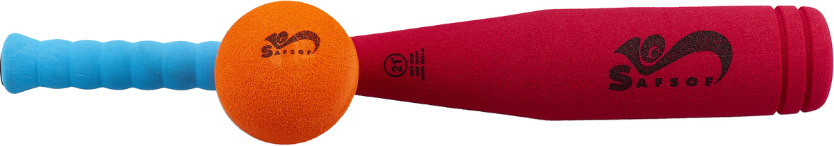 Safsof Игровой набор Бейсбольная бита и мяч цвет малиновый голубой оранжевый safsof клюшка хоккейная с шайбой 70см