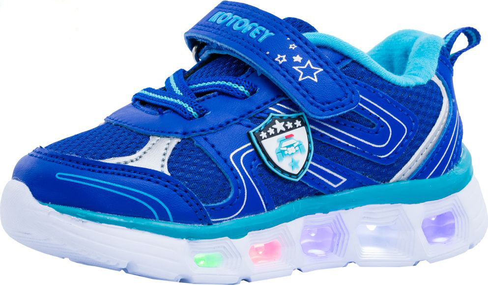 Кроссовки для мальчика Котофей, цвет: синий. 144084-71. Размер 22