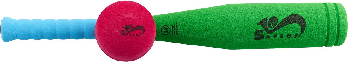 Zakazat.ru Safsof Игровой набор Бейсбольная бита и мяч цвет зеленый голубой малиновый