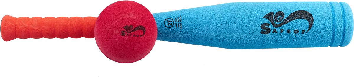 Safsof Игровой набор Бейсбольная бита и мяч цвет голубой коралловый малиновый олеся лихунова хочешь я буду твоей мамой