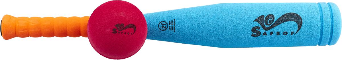 Zakazat.ru Safsof Игровой набор Бейсбольная бита и мяч цвет голубой оранжевый малиновый