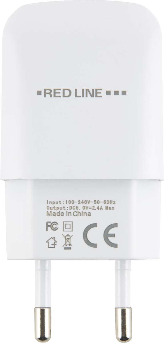 Red Line NTC-2.4А, White сетевое зарядное устройство + кабель Lightning (MFI)