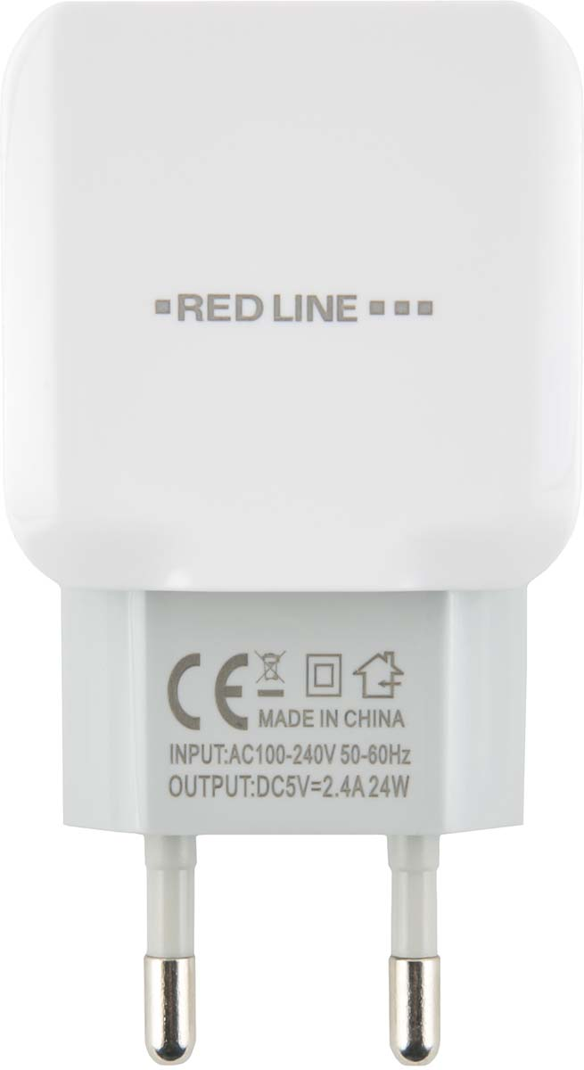 Red Line NC-2.4A, White сетевое зарядное устройство + кабель Lightning