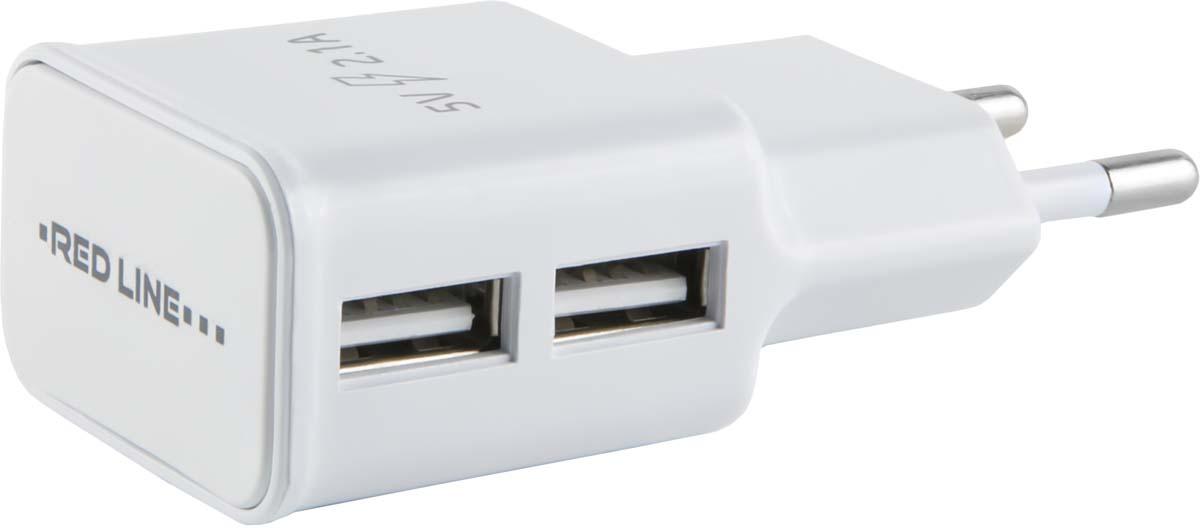 Red Line NT-2A, White сетевое зарядное устройство + кабель Lightning зарядное устройство budi m8j071 4 2a lightning cable black