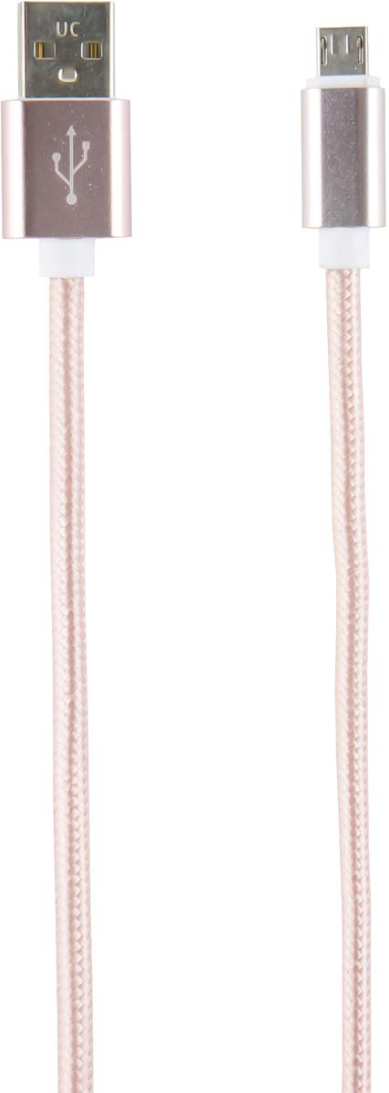 Red Line УТ000014161, Pink кабель USB-micro USB (2 м) red line zync alloy black кабель usb lightning 1 м
