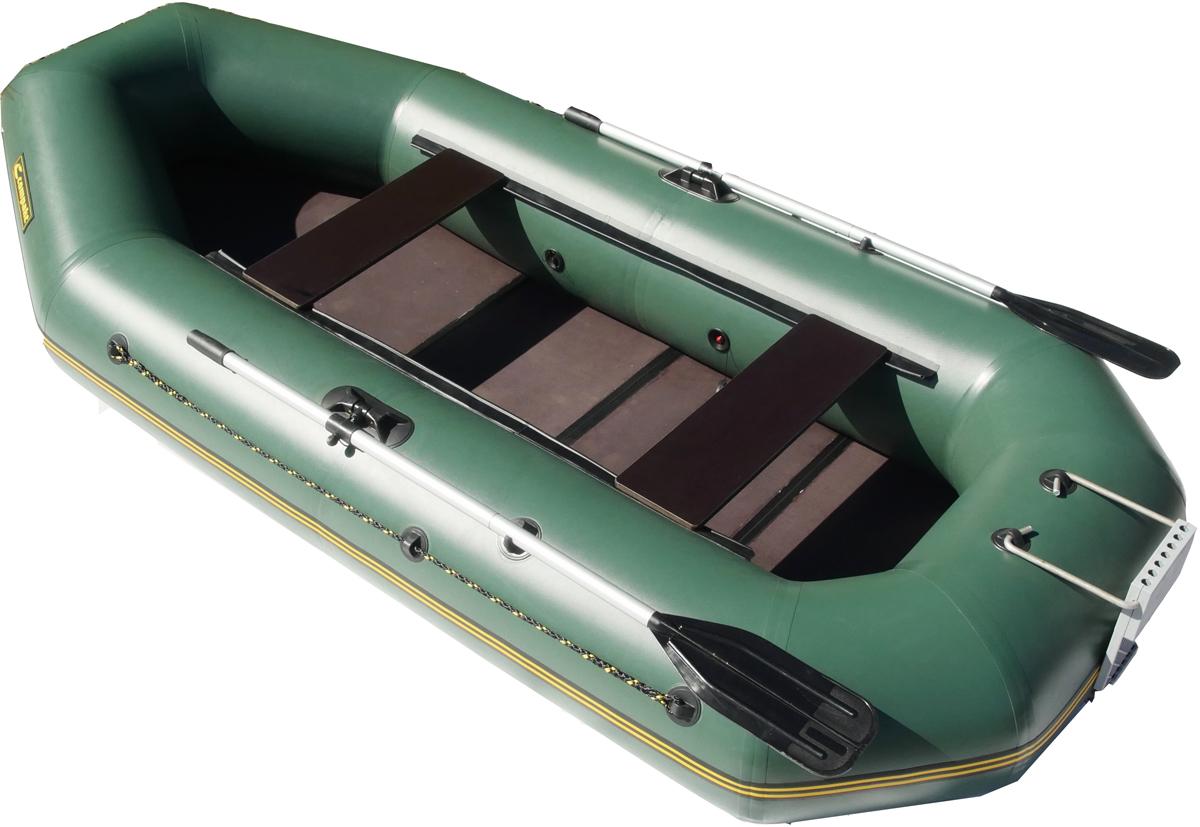 """Лодка надувная Leader """"Компакт-265"""", гребная, цвет: серый"""