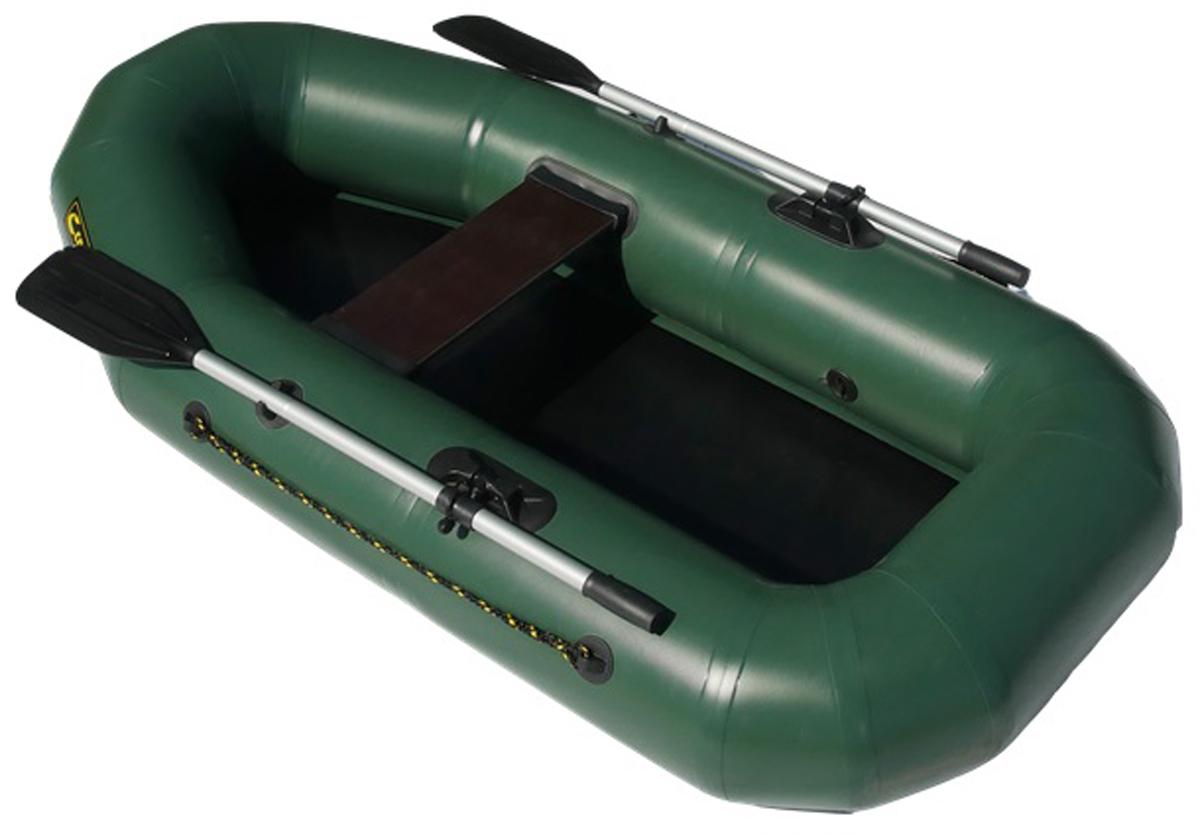 Лодка надувная Leader Компакт-210, гребная, цвет: зеленый