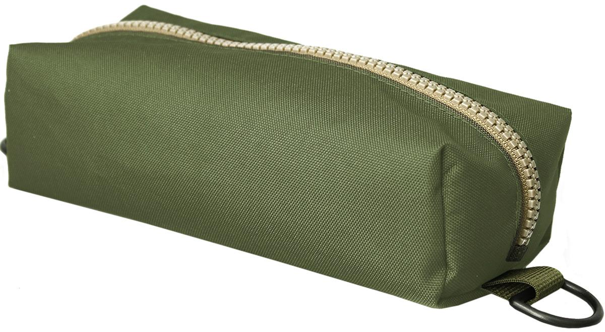Пенал тактический Tplus, кордура 900, цвет: темно-зеленый, 20 x 10 x 4 смT014769Пенал тактический размером 200х100х40 мм специально создан для хранения важных мелочей, которые всегда должны быть под рукой. Пенал закрывается на молнию. С двух сторон на нем предусмотрены полукольца,на которые можно зацепить карабин и прикрепить к рюкзаку или сумке.