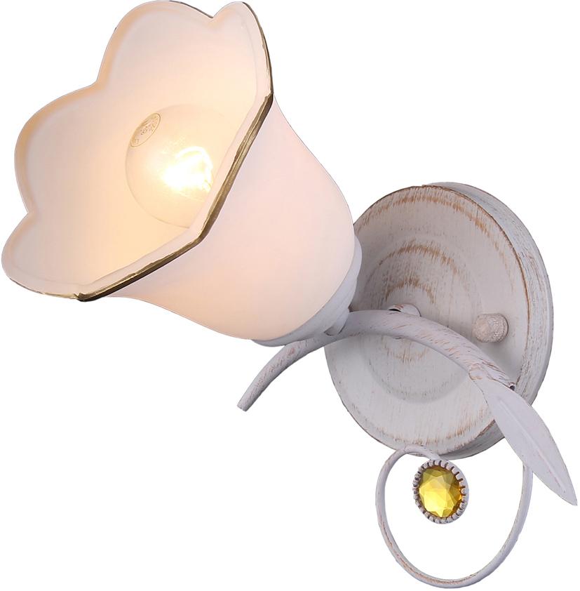 Настенный светильник Natali Kovaltseva, 1 х E14, 40W. 11452/1W WHITE GOLD бра natali kovaltseva 11461 1w french