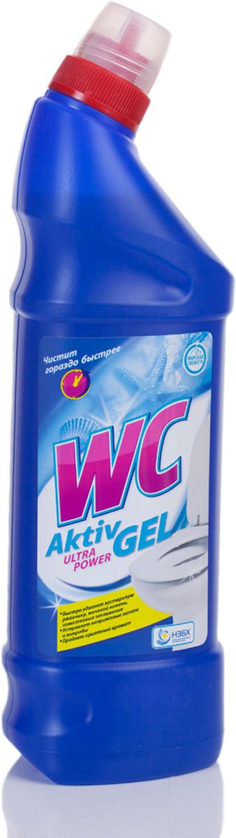 WC Aktiv Gel Ultra Power (соляная кислота). Быстро удаляет застаревшие загрязнения, ржавчину, мочевой камень. Устраняет неприятные запахи.  Придает приятный аромат.