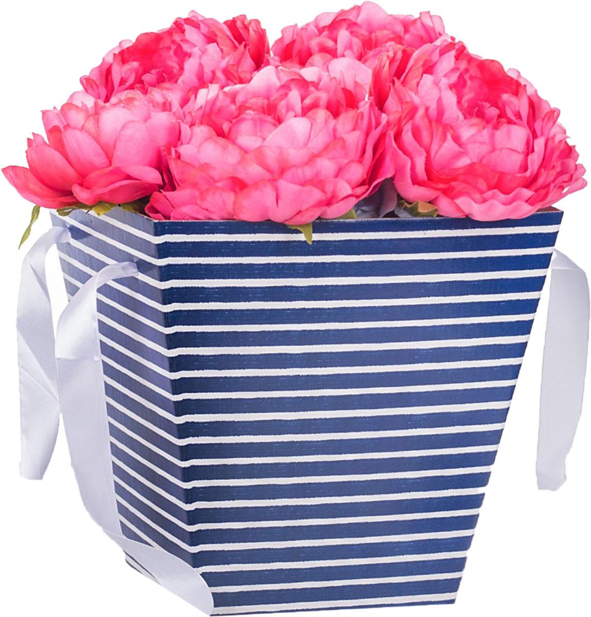 Коробка-трапеция Дарите Счастье Морская полоска, 23,6 х 24,5 х 15 см2878112Любой подарок начинается с упаковки. Что может быть трогательнее и волшебнее, чем ритуал разворачивания полученного презента. И именно оригинальная, со вкусом выбранная упаковка выделит ваш подарок из массы других. Она продемонстрирует самые тёплые чувства к виновнику торжества и создаст сказочную атмосферу праздника. Коробка — это то, что вы искали.