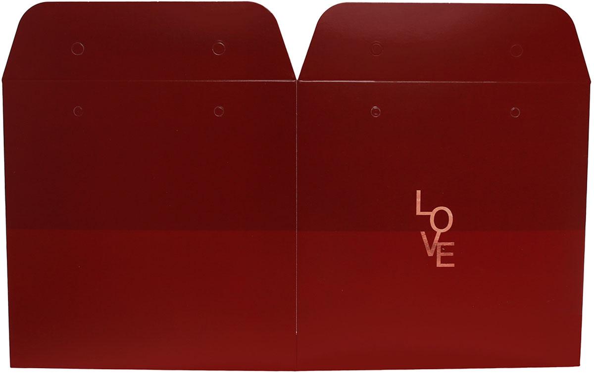 "Пакет-коробка Дарите Счастье ""Love"", с лентами, 39 х 36 см"