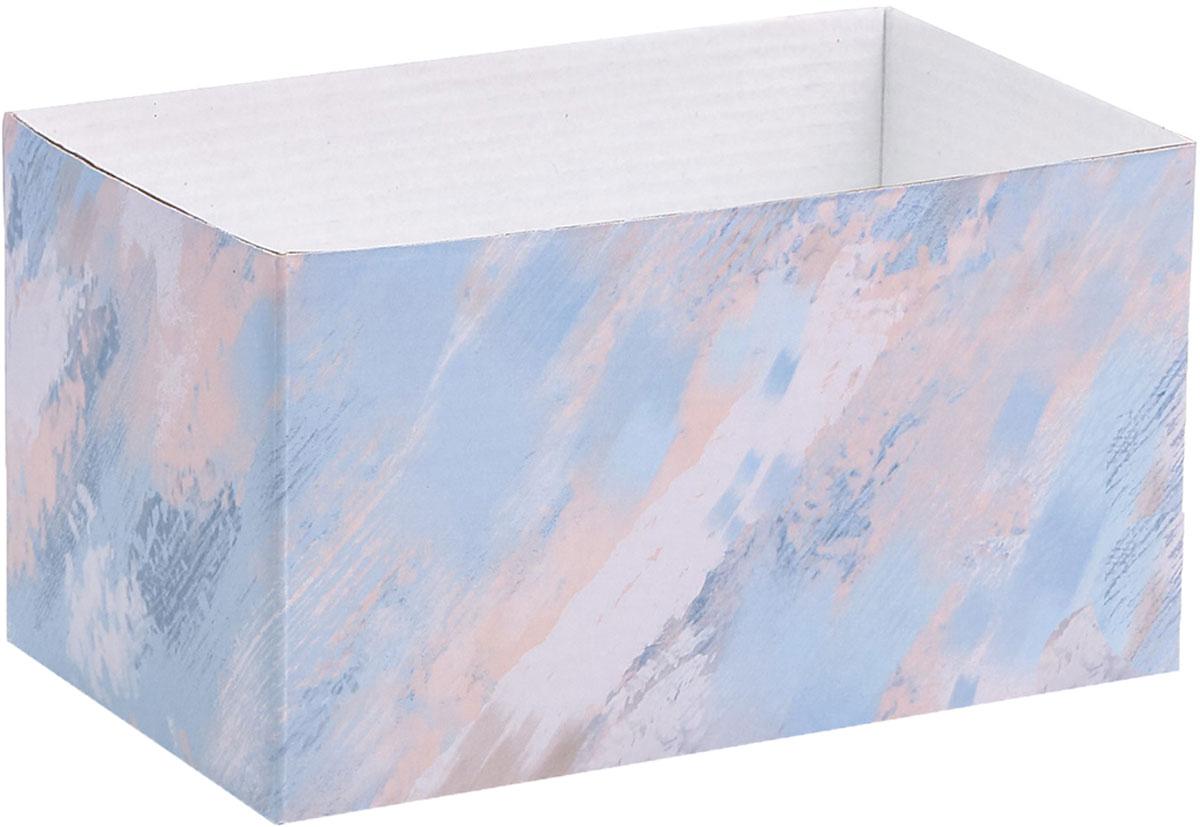 Коробка подарочная Дарите Счастье Мраморные разводы, складная, 12 х 17 х 10 см коробка складная дарите счастье снегири на санях цвет синий красный 23 5 х 14 5 х 18 см