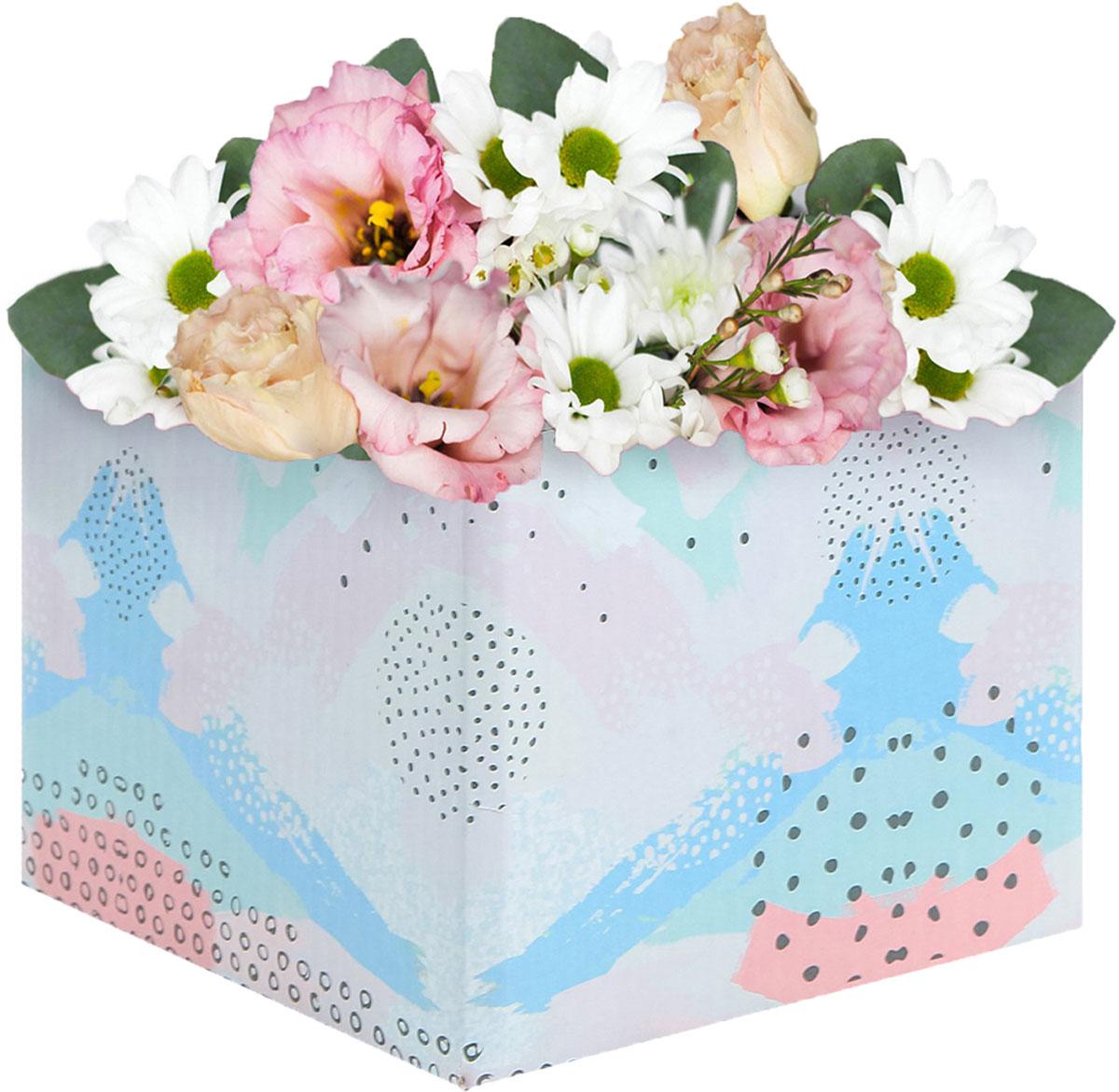 Коробка подарочная Дарите Счастье Яркость, складная, 10 х 10 х 12 см коробка складная дарите счастье снегири на санях цвет синий красный 23 5 х 14 5 х 18 см