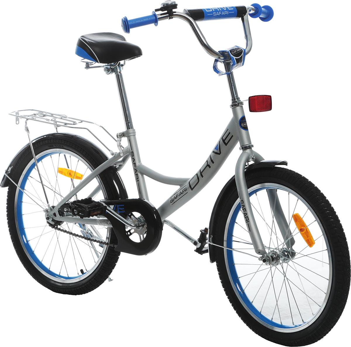 Велосипед детский Safari Proff Drive, двухколесный, цвет: серый, колесо 20