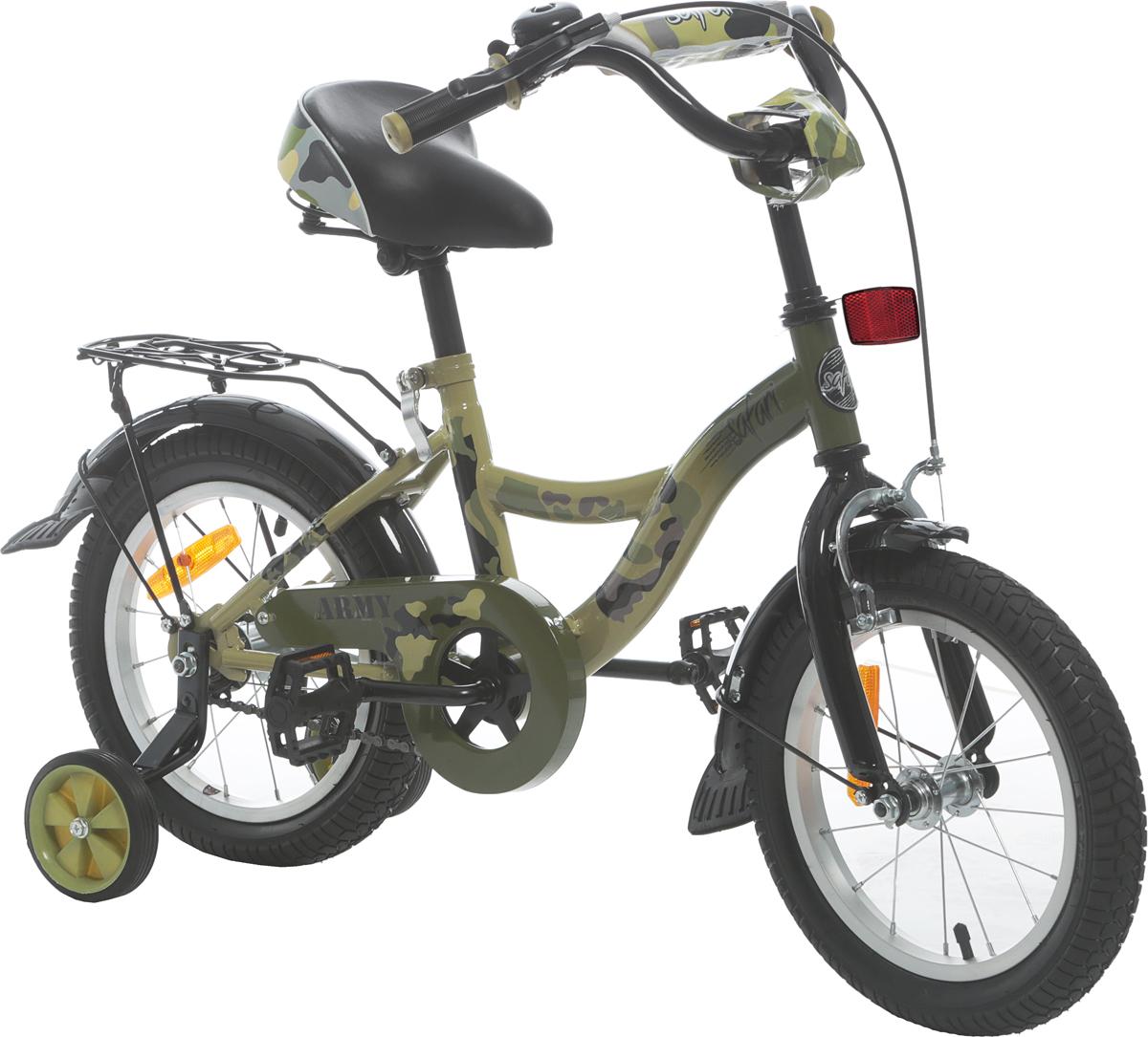 """Велосипед детский Safari """"Army"""", двухколесный, колесо 14"""""""
