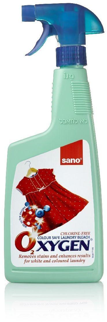Пятновыводитель-спрей Sano Oxygen, для обработки пятен перед стиркой, 750 мл