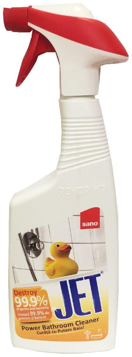 Пена чистящая для мытья ванны Sano Jet. Убивает 99% микробов, 750 мл600137Sano JET ? чистящая пена для мытья ванны Убивает до 99,99% микробов. Пена ? многофункциональное средство для чистки ванн, душевых кабин, фарфора и керамики. Удаляет налет и ржавчину, мыло, плесень и грибок. Действует быстро – за 1 минуту.750мл