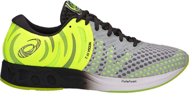 Революционные, инновационные, современные кроссовки Gel-Noosa FF 2 получили второе дыхание с появлением технологии FlyteFoam, которая позволяет создавать легкие и восприимчивые к каждому вашему движению кроссовки. Эта модель, лидер среди обуви для тренировок, с новым дерзким верхом из сетчатого материала отлично обеспечивает воздухопроницаемость и вентиляцию. Благодаря техническим характеристикам сетки модель можно носить без носков.Поверхность подошвы, обеспечивающая отличное сцепление на мокрой поверхности, позволит вам твердо стоять на земле, а светоотражающие элементы 3M сделают вечерние пробежки более безопасными. Легкая модель с подъемом высотой 10 мм помогает переносить вес тела вперед, снижая нагрузку на нижнюю часть тела и делая долгие забеги менее утомительными.Здесь выполняются все ключевые требования, которым должны соответствовать беговые кроссовки: новый дизайн сезона весна-лето 2018 года демонстрирует оптимальный баланс амортизации и поддержки стопы. Наша знаменитая система амортизации GEL cushioning в задней части подошвы и вкладная стелька EVA позволят вам выполнять тренировки максимально интенсивно, ведь модель гарантирует лучший контакт с поверхностью, снижая риск травм.