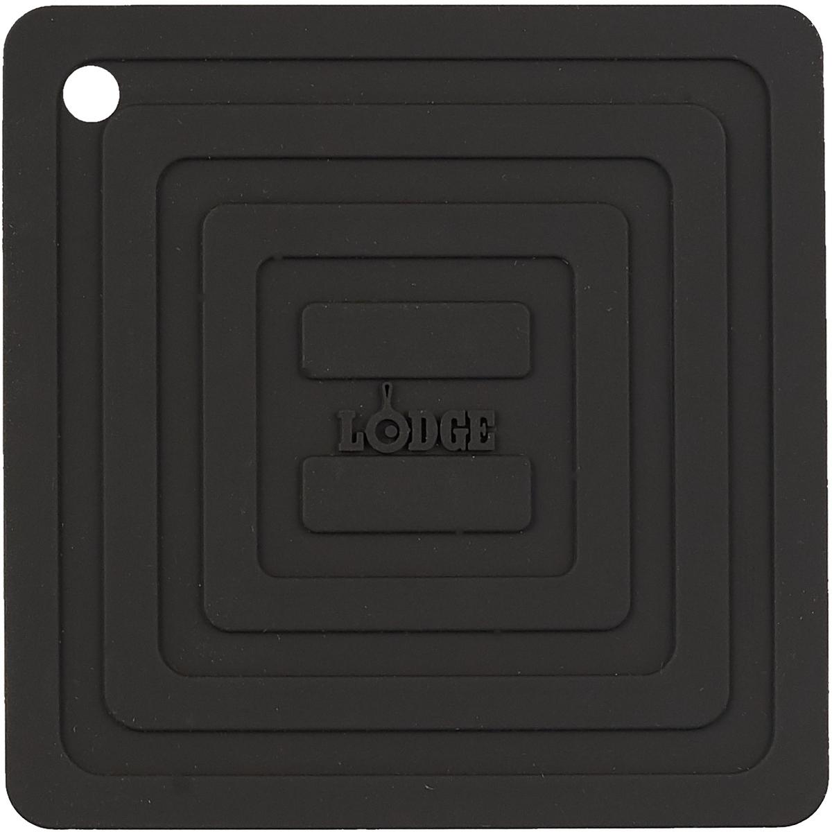 Подставка под горячее Lodge, силиконовая, цвет: черный, 15 х 15 смAS6S11