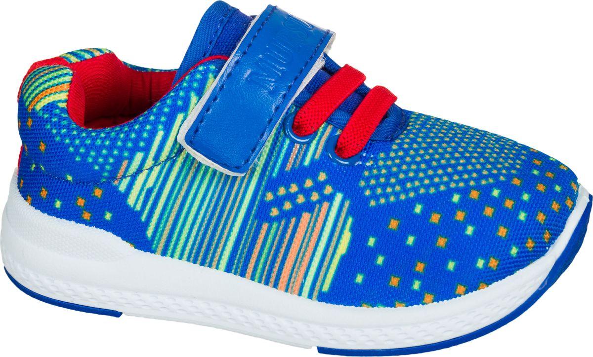 Кроссовки для мальчика Mursu, цвет: голубой. 203065. Размер 25203065Застежка велькро (липучка) и эластичные шнурки.