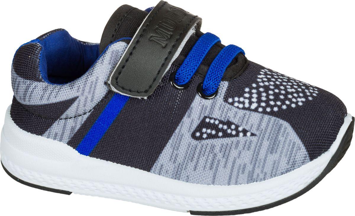 Кроссовки для мальчика Mursu, цвет: серый, черный. 203057. Размер 23203057Застежка велькро (липучка) и эластичные шнурки.