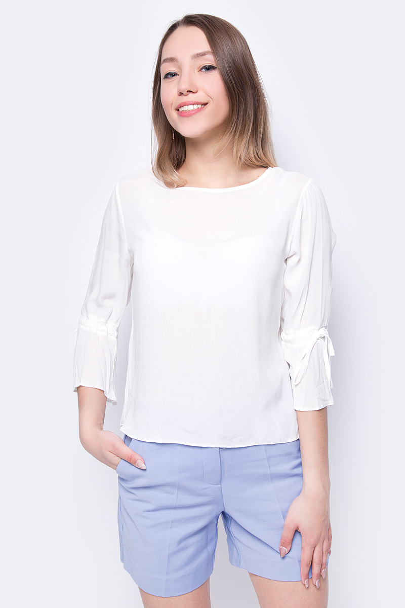 Блузка женская adL, цвет: бежевый. 11533456000_019. Размер XS (40/42) блузка женская adl цвет красный 11533623000 006 размер xs 40 42