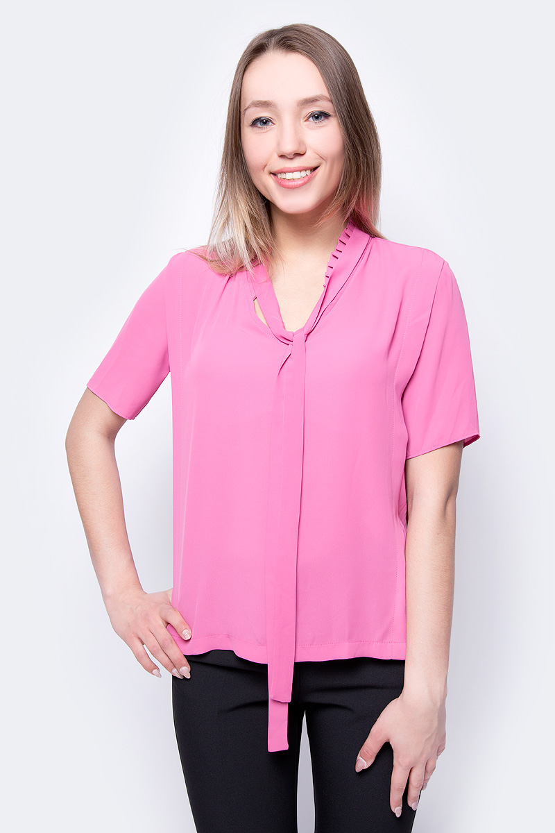 Блузка женская adL, цвет: розовый. 11533804000_983. Размер XS (40/42) футболка женская adl цвет черный 17532987001 001 размер xs 40 42