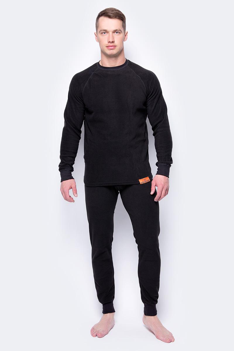 Комплект термобелья Woodland ThermoLine: брюки, кофта, цвет: черный. 57378. Размер L (48/50)ThermoLineКомплект термобелья Woodland ThermoLine изготавливается из качественного полиэстера. Может использоваться как одежда первого слоя (термобельё), так и как утепляющий флисовый второй слой с другими моделями термобелья Woodland. Материал изделия эластичный, легко тянется. Элементы кроя соединяются плоскими швами, которые при натяжении и под давлением не врезаются в кожу, не вызывают потертостей и ссадин. Комплект термобелья Woodland ThermoLine подходит для активного отдыха в зимний период, для повседневного ношения и длительного пребывания на открытом воздухе в холодном климате. Комплект термобелья Woodland ThermoLine комфортен в использовании, при продолжительном ношении не вызывает зуда. Материал изделия отводит влагу от тела и согревает. При намокании не теряет способности удерживать тепло, быстро сохнет на теле. Температурные показатели: при низкой физической активности - до минус 20 градусов, при высокой физической активности - до минус 30 градусов.