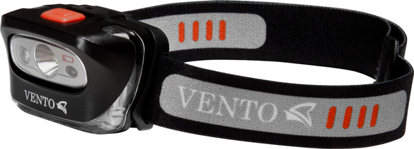 Фонарь налобный Vento Photon, светодиодный, цвет: черныйvpro 0190bkНалобный фонарь VENTO Photon с ярким светодиодом для большинства видов активности. Светодиод яркостью до 165 люмен имеет несколько сменяемых режимов освещения: - яркий для быстрого перемещения (дальность освещения до 60 метров); - средний для спокойного движения (дальность освещения до 35 метров); - экономичный режим для использования на бивуаке (дальность освещения до 12 метров); - сигнальный режим. Красный светодиод, используемый, чтобы не слепить окружающих, имеет два режима работы: режим постоянного освещения для использования на бивуаке и при передвижении; сигнальный режим (время работы фонаря в сигнальном режиме до 200 часов). - кнопка для легкого и быстрого переключения режимов; - отстегивающийся эластичный головной ремень легко регулируется; - батарейный отсек легко открывается для замены батареек. Характеристики: Вес: 85 г, включая батарейки Ударопрочный корпус, выдерживающий падения с высоты человеческого роста Тип луча: широкий Питание: 3 батарейки AAA/LR03 (в комплекте) Совместим с Ni-MH аккумуляторами Водозащищенность: IP X5, водостойкий Имеется индикатор низкого заряда батарей.
