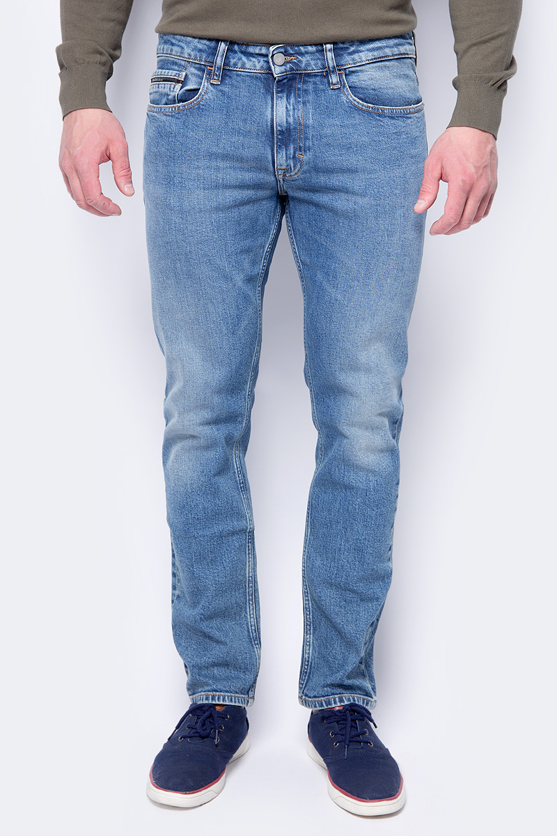 Джинсы мужские Calvin Klein Jeans, цвет: синий. J30J306711_9113. Размер 36-32 (54/56-)