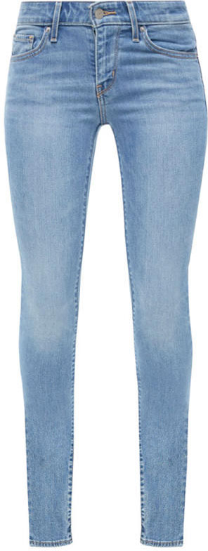 Джинсы женские Levis® 711, цвет: голубой. 1888102520. Размер 29-32 (46-32)1888102520Стильные узкие джинсы от Levis® превосходно облегают фигуру и создают шикарный силуэт. Помогают создать неповторимый повседневный образ. Модель в поясе застегивается на пуговицу имеет ширинку на молнии и шлевки для ремня. Джины имеют классический пятикарманный крой.