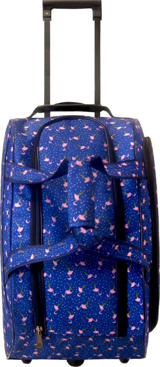 Сумка дорожная Cross Case, на колесах, цвет: синий