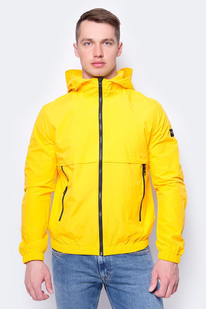 Куртка мужская Calvin Klein Jeans, цвет: желтый. J30J306967_7960. Размер XL (50/52) куртка мужская calvin klein jeans цвет синий j30j306966 4020 размер xl 50 52