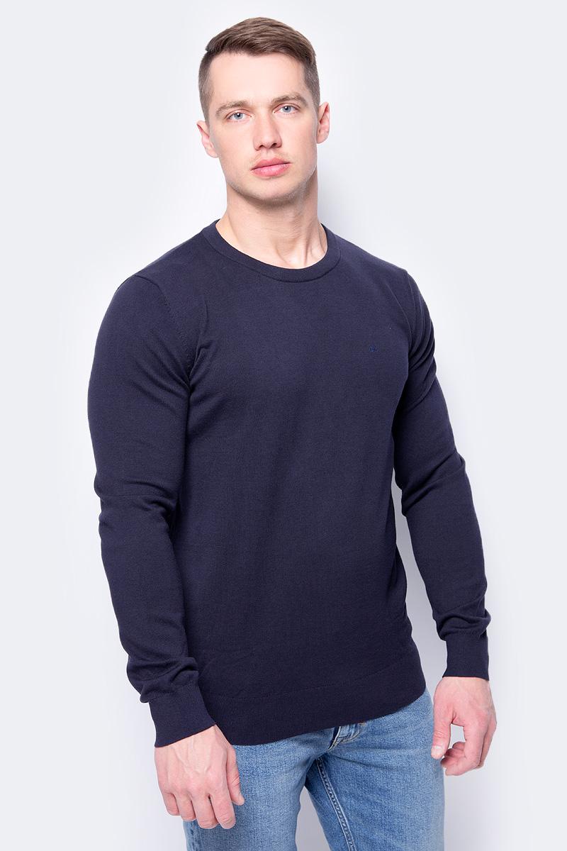 Джемпер мужской Calvin Klein Jeans, цвет: синий. J30J306941_4020. Размер XXL (52/54) куртка мужская calvin klein jeans цвет синий j30j305551 4020 размер xxl 52 54